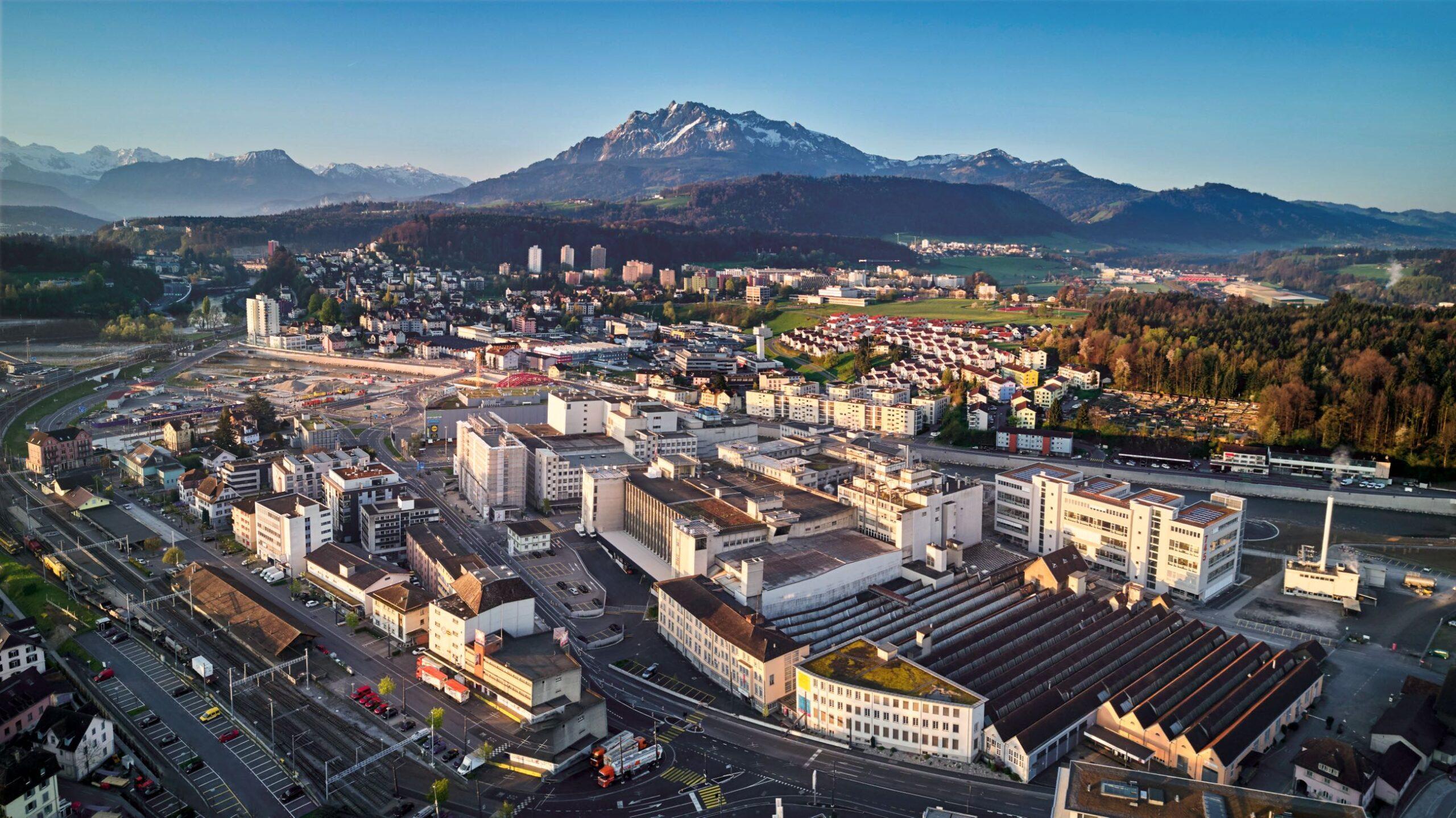 Luftaufnahme Luzern Nord